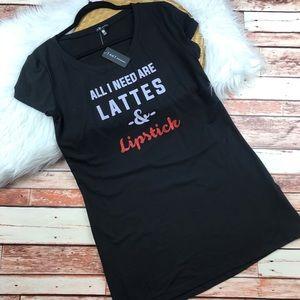 Nwt TART pajama shirt dress lattes & lipstick